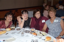 Susa Ju Go, Pam Gardella Burns, Jeannette Bikakis Riley and Joan Greenberg Palmer